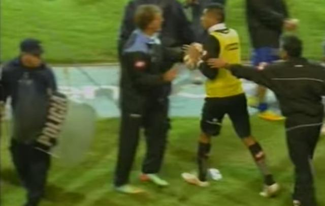Incidentes entre jugadores Godoy Cruz- Belgrano