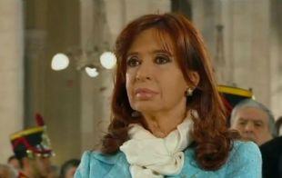 Cristina Fernández durante el su último Tedeum en Luján (Foto captura de video).