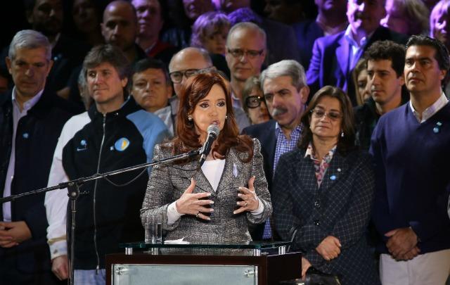 Cristina durante la Cadena Nacional.
