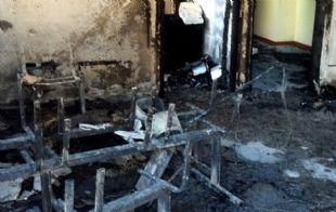 El Centro Cívico Municipal uno de los edificios atacados durante la pueblada.