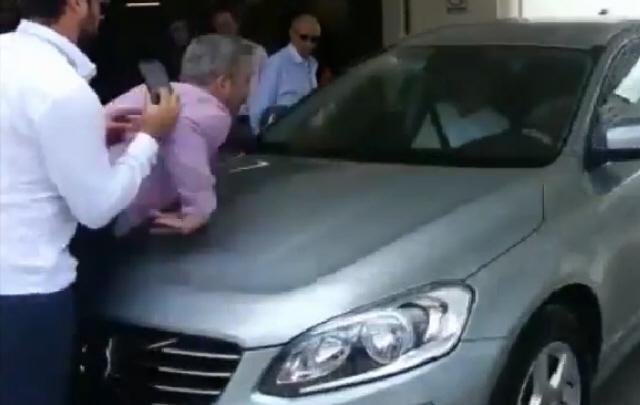 Accidente en una prueba de estacionamiento en República Dominicana.