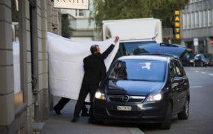 El operativo de detención en el hotel Baur au Lac en los Alpes el 27 de mayo pasado.