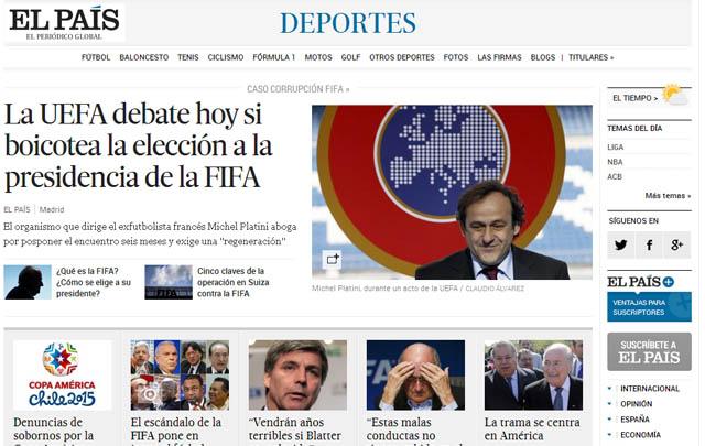 Los principales medios del mundo titularon con lo sucedido en FIFA.
