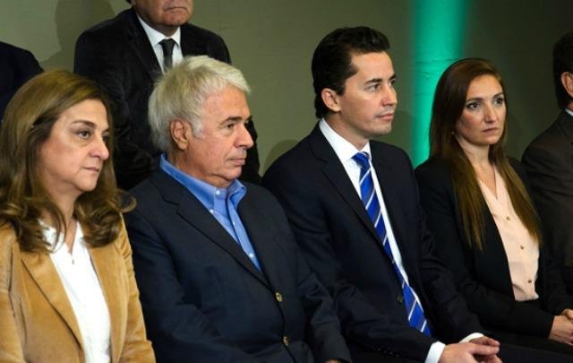De la Sota durante la asunción de Manuel Calvo.