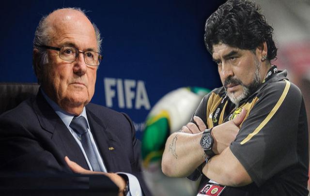 Blatter vs Maradona