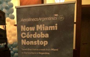 En la Fiesta de la Cámara de Comercio Argentina de Miami inauguraron el nuevo vuelo.