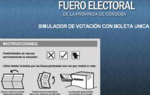 La aplicación para probar la Boleta Única en Córdoba.