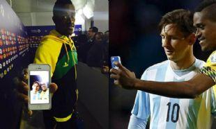 Selfie de Deshorn Brown con Lionel Messi