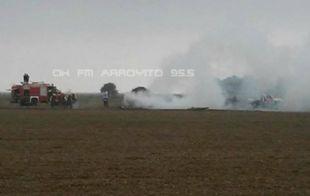 El siniestro se produjo en inmediaciones del paraje El Descanso (FM Arroyito).