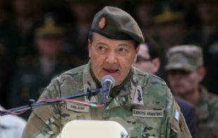 Milani en su discurso saliente como jefe del Ejército.