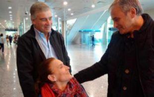 Michetti junto a Aguad y Baldassi en Córdoba.