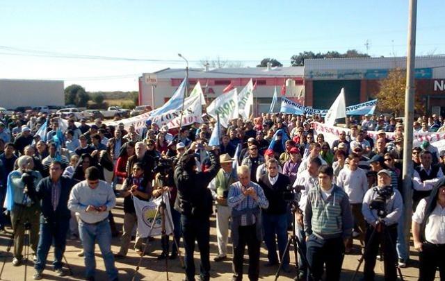 El campo protesta este viernes (Foto de archivo)