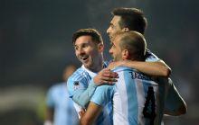 Messi y Pastore fueron las figuras del seleccionado argentino.