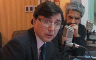 Jorge Fontevecchia durante su visita a Juntos.