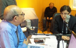 Mario Pereyra junto a Jorge Fontevecchia, CEO de Editorial Perfil.