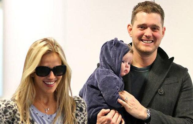Luisana Lopilato Con Bubblé y su hijo