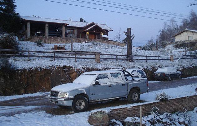 Así amaneció hoy La Cumbrecita (Foto: Gentileza Arnoldo Cirilli)