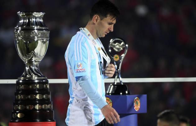 Messi expresó su dolor por la derrota en la Copa América.