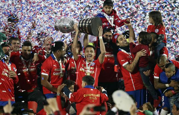 Chile, exultante, se consagró ganador.