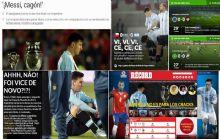 Repercusiones de diarios del mundo de la derrota Argentina