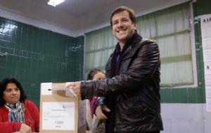 Recalde votó en una escuela en el barrio de Barracas.