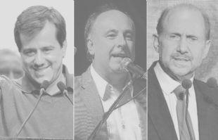 Recalde, Accastello, Perotti; los candidatos del FpV derrotados en las urnas.