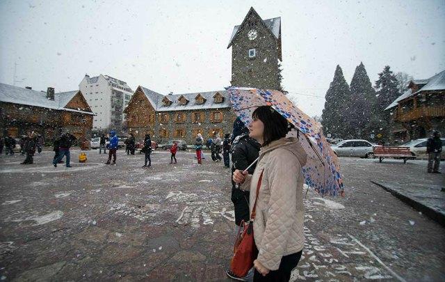 Los turistas aprovechan el receso invernal para visitar las principales ciudades.