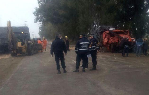 Grave accidente en Porteña dejó dos muertos.