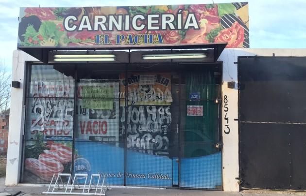 Así luce hoy el local de Carlos, a puertas cerradas.
