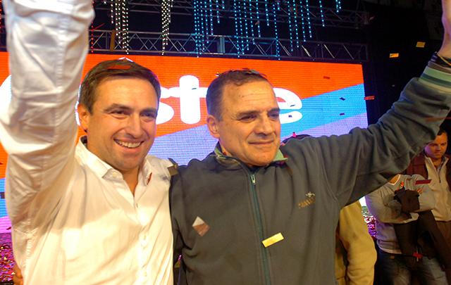En el club Atenas, Mestre y Lábaque iniciaron su campaña.