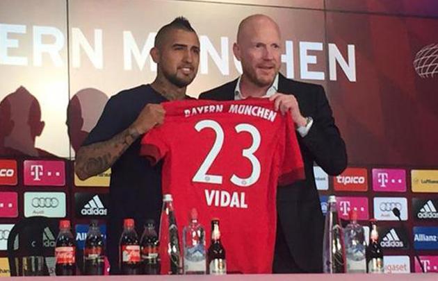 Arturo Vidal es ya jugador del Bayern Münich