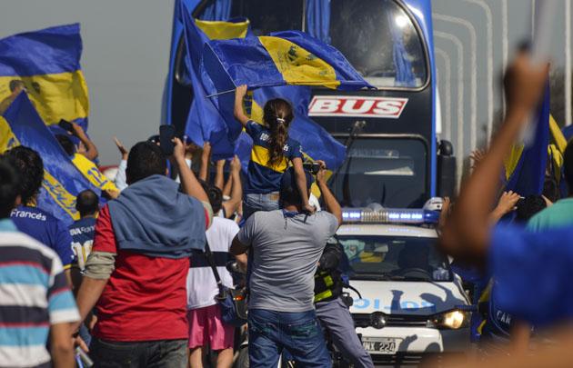 Boca fue recibido por una multitud en Formosa.