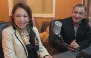 Olga Riutort y Luis Juez durante su visita a Cadena 3.