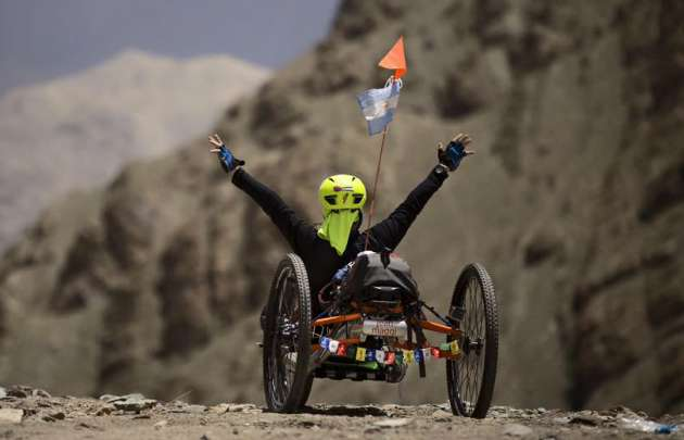 Juan Maggi este lunes hizo cumbre en el Himalaya.