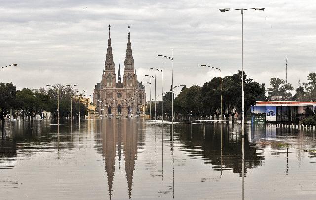 Luján es una de las localidades más afectadas por las inundaciones.