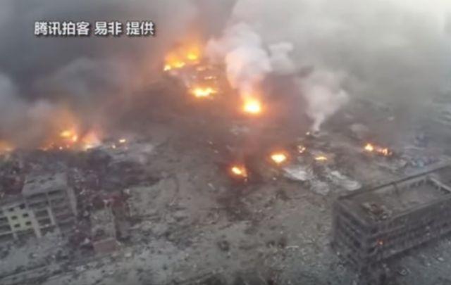 La enorme explosión dejó 50 muertos en China.