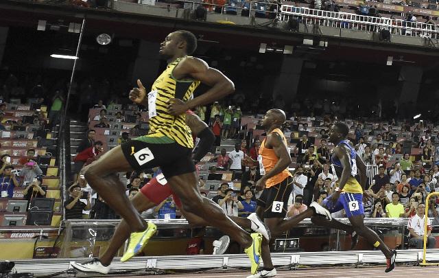 Bolt volvió a volar en la competencia 4x100.