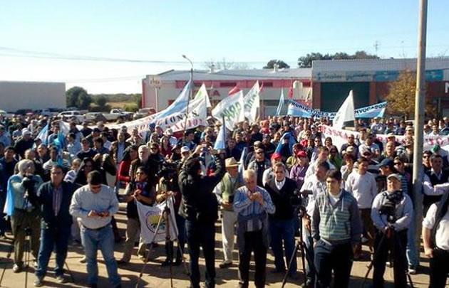 La protesta del campo seguirá hasta el viernes.(Foto:@gustsaldana)