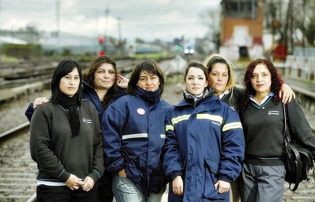 Ferroviaras de la Línea Sarmiento quieren ser maquinistas (Foto: Hernán Zenteno)