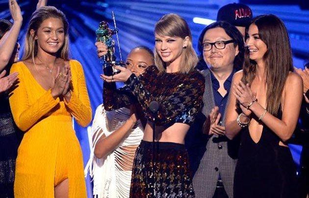 Taylor Swift fue la estrella de la noche.