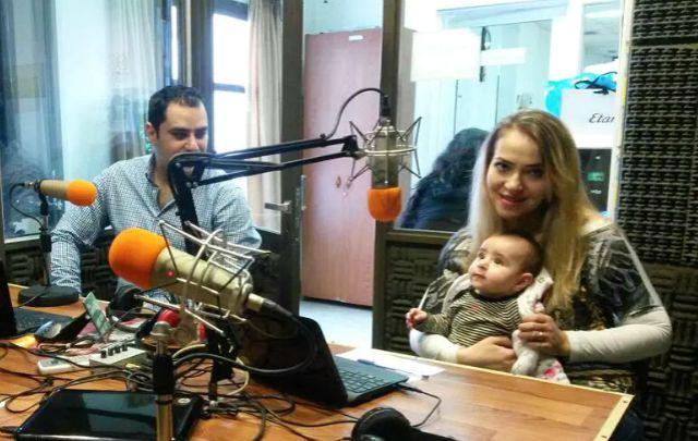 George, Ramia y su beba nacida en argentina (Foto: Oscar Vigna)