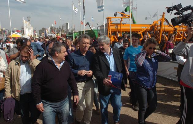 Mauricio Macri en La Rural de Río Cuarto.