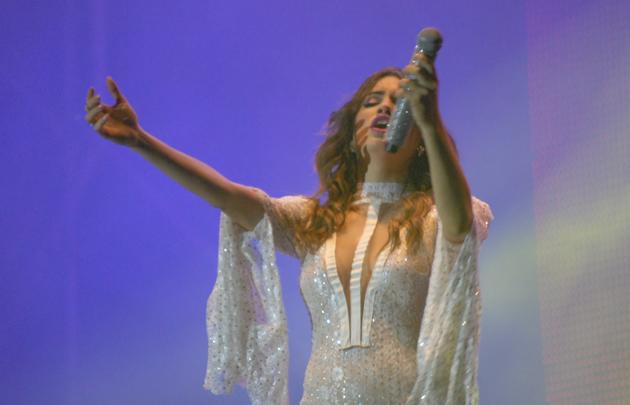 Lali Espósito maravilló al público con su performance.