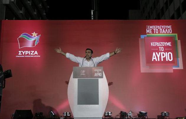Alexis Tsipras celebra su triunfo en las elecciones.