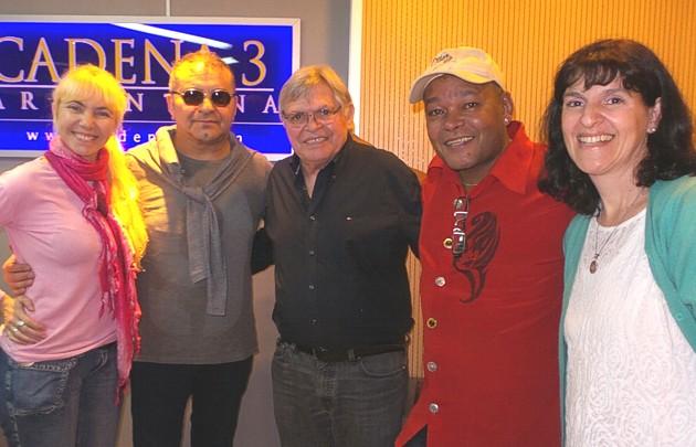 """El """"Toro"""" Quevedo y Rubinho en Viva la Radio."""