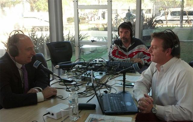 Accastello dialogó con Cadena 3 en los festejos por el aniversario de la ciudad.