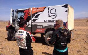 Villagra lidera la competencia en camiones en Marruecos.