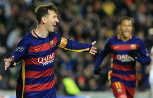 Messi volvió a marcar para el Barcelona.