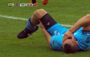 Chimino sufrió una terrible lesión en San Martín - Temperley.