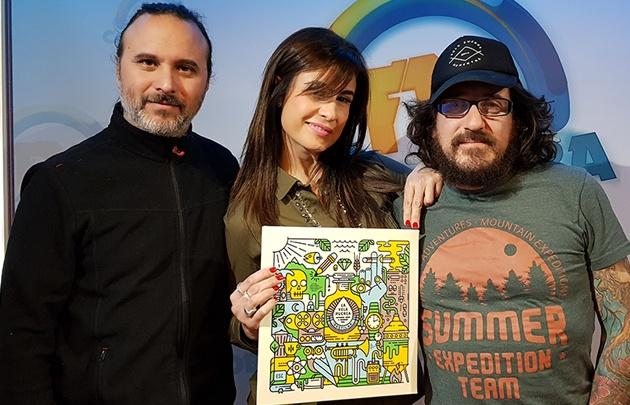 La Vela Puerca en el estudio de FM Córdoba